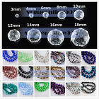 Wholesale Rondelle Faceted Crystal Glass Spacer Loose Beads 3mm 4mm 6mm 8mm 10mm