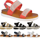 Womens Ladies New Summer Glittery Beach Open Toe Wedge Sandals Shoes Sizes Uk