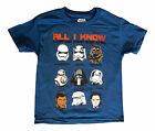 NEW! Star Wars All I Know Chewbacca Kylo Ren BB8 Blue Shirt Kids Youth Sizes $8.88 USD on eBay