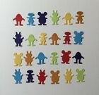 ALIEN DIE CUT EMBELLISHMENTS X 24 CHOOSE GREEN OR MULTI COLOURED SCRAPBOKKING