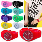 Womens Mens Fashion Silicone Soft Analog Quartz Dial Casual Sports Wrist Watch