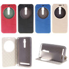 For Asus Model View Window PU Leather Stand Flip Protective Case Cover + 2 Gift
