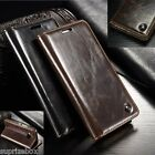 DESIGNER GENUINE LEATHER RETRO WALLET STAND CASE COVER SONY XPERIA Z5 & Z5 COMP