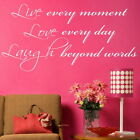 Live Love Laugh Inspirational Wall Quote Motivational Quote Sticker DAQ7