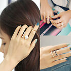 Fashion Rings Gold Crystal Cute Knuckle Ring Midi Stack Jewelry Party 3pcs/Set