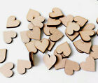 Wooden MDF Hearts Shape 3mm MDF Craft Shape Tags  Embellishments  Decoration 3cm