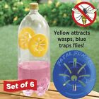 New Fatal Funnel Wasp and Hornet Traps or Fly Traps Re-useable Pack of 6