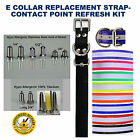 E Collar Replacement Strap Contact Point Bundle- Your Choice of Size & Color NEW