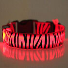 Adjustable LED Light Up Nylon Dog Collar Night Safety LED Colorful Pet Strap 1pc