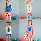 Fashion Girls Boys Child Short Sleeve T-shirt Tops Kids Baby Cotton Clothes 2-7Y