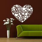 COLLAGE LOVE HEARTS HEART WALL ART DECAL TRANSFER giant stencil vinyl mural LO9