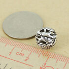 925 Sterling Silver Dragon Bead Vintage Round Bead Jewelry Making WSP417
