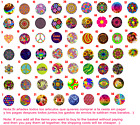Chapa Button Badge 25mm 38mm 59mm Hippie Flower Power Peace Love Freedom Spring