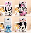 for Samsung Galaxy Note 4 - SOFT TPU RUBBER SILICONE CASE COVER MICKEY MINNIE