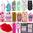 3D Cute Soft Silicone Phone Case Cover For iPhone 4/4S 5/5S/5C 6/6S Plus SE