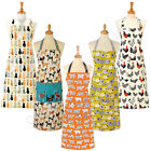 Ulster Weavers 100% Cotton Apron Cats In Waiting Dotty Sheep Hound Dog Rooster