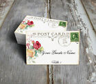 WATERCOLOR ROSE POSTCARD WEDDING PLACE CARDS, TAGS or ESCORT CARDS #138