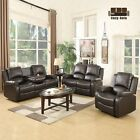 Sofa Set Loveseat Couch Recliner Leather 3+2+1 Seater Living Room Furniture фото