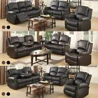 Sofa Set Loveseat Chaise longue Recliner Leather 3+2+1 Seater Living Room Furniture