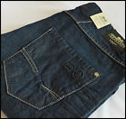 MENS DESIGNER STYLE Crosshatch DENIM BLUE JEANS BOOTCUT REGULAR FIT ROCHESTER DW
