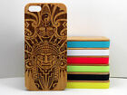 Aztec Pattern Case for iPhone 5C Bamboo Wood Cover Tribal Warrior Mask Mayan