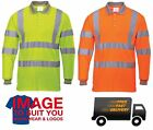 Hi Vis Long Sleeve Polo Shirt Safety Workwear