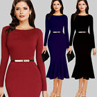 New Womens Mermaid Bodycon Party Dress Ladies Cocktail Evening Dresses Fishtail