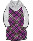 Deux par Deux Girls' Plaid Dress with Cowl-neck Collar Cherry is the New Black,