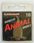 KAMASAN ANIMAL BARBLESS SPADE END HOOKS (all sizes available)