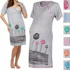 Happy Mama. Women's Maternity Nursing Breastfeeding Nightdress Shirt Gown. 135p