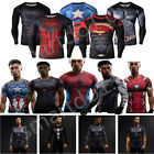 Men's Compression Marvel Superhero Tee T-Shirts Gym Sport Bicycle Jersey Men TOP