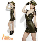 Adult Military Chief Army Ladies Fever Role Play Costume Womens Fancy Dress New