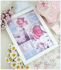 Personalised Photo Frame*Newborn*Christening*First Scan*Keepsake*Gift*Baby*Girl