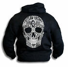 Big Skull Biker Outlaw Built for Speed Custom Vintatage Mens Hoodie Top Sm -2XL