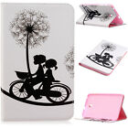 """New Folio Color Painted Leather Case Cover For Samsung Galaxy Tab E 8.0"""" SM-T377"""
