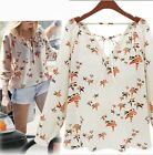Boho Hippy Long Sleeve Blouse Casual Beach Festival Top Shirt Womens Bohemian