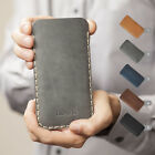 Motorola Coat Case PERSONALIZED ENGRAVED Real Leather Sleeve Pocket