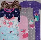CARTER'S BABY GIRL BLANKET SLEEPER FOOTED MICRO FLEECE PAJAMAS JAMMIES 3M 6M 9M
