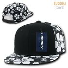 Kyпить 1 Dozen Decky Solid Black Panel Floral Hawaiian Cotton Snapback Hats Wholesale на еВаy.соm