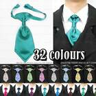 New fashion Satin Pre Tied Wedding Party men's boy's cravat and matching hanky