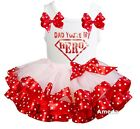 Pink Red Polka Dots Satin Trimmed Tutu Dad You're My Hero Outfit