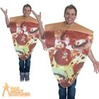 Adult Pizza Slice Costume Unisex Funny Novelty Food Fancy Dress Outfit New