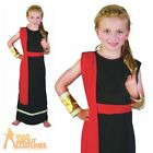 Child Roman Girl Costume Black Toga Greek Egyptian Fancy Dress Outfit New