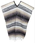Traditional Mexican Poncho - BROWN - ONE SIZE FITS ALL Blanket Serape Gaban