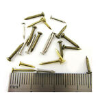 STEEL NAILS  DOLLSHOUSE TINY MODELS MINIATURE HINGE BOX HARDWARE 3 COLOURS