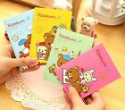 FD2563 Cartoon Rilakkuma Bear Suture Notepad Memo Diary Notebook 20 Pages ~1pc~