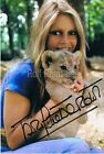 "Brigitte Bardot 1934- genuine autograph signed 4""x6"" photo"