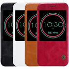 For HTC 10 Lifestyle Nillkin Retro PU Leather Flip Case View Window Smart Cover