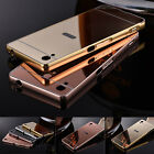 Luxury Mirror Back Cover Skin Metal Aluminum Frame Case For Sony Various Phones
