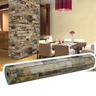 Modern Chic Durable Retro 3D Effect Brick Vintage Stacked Stone Brick Wallpaper